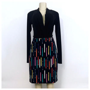 Elevenses Blue Multi Color No2 Pencil Skirt Size 6
